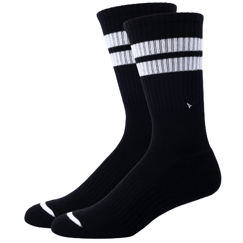 Arvin Goods Long Crew Socks - Black
