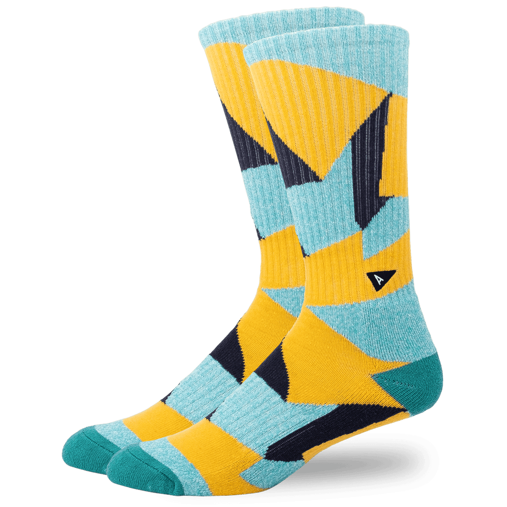 Arvin Goods Long Crew Socks - Teal