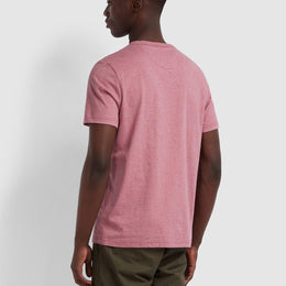 Farah Dennis Slim Fit T-shirt - Dusty Rose Marl
