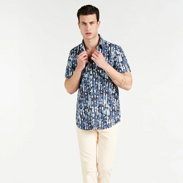 Guess All Over Print Shirt - Blue Multi