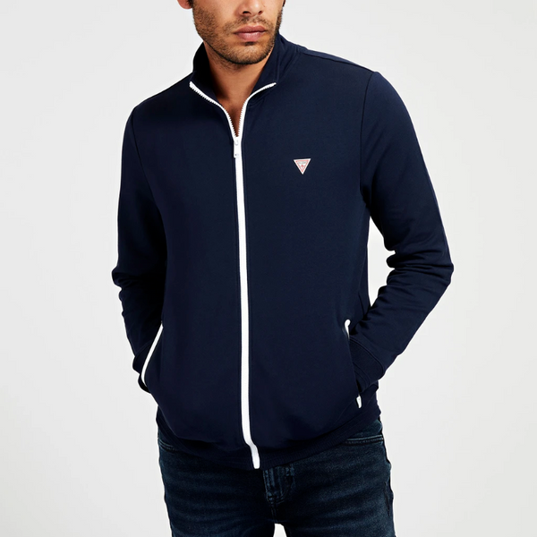 Guess Zip Fastening Sweatshirt - Navy
