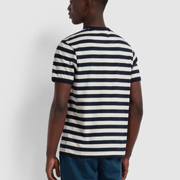Farah Belgrove Slim Fit Striped T-shirt - Ecru