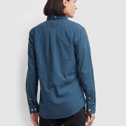 Farah Steen Slim Fit Brushed Cotton Oxford Shirt - Farah Teal
