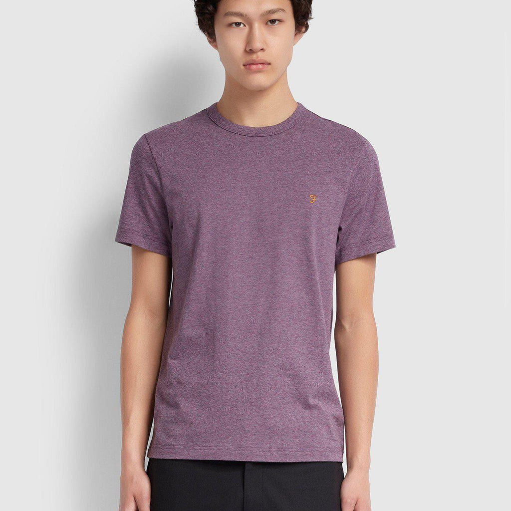 Farah Dennis Slim Fit T-shirt - Rose Taupe Marl