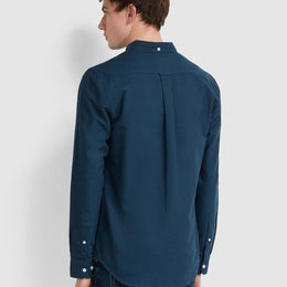 Farah Brewer 100 Slim Fit Oxford Shirt - Farah Teal