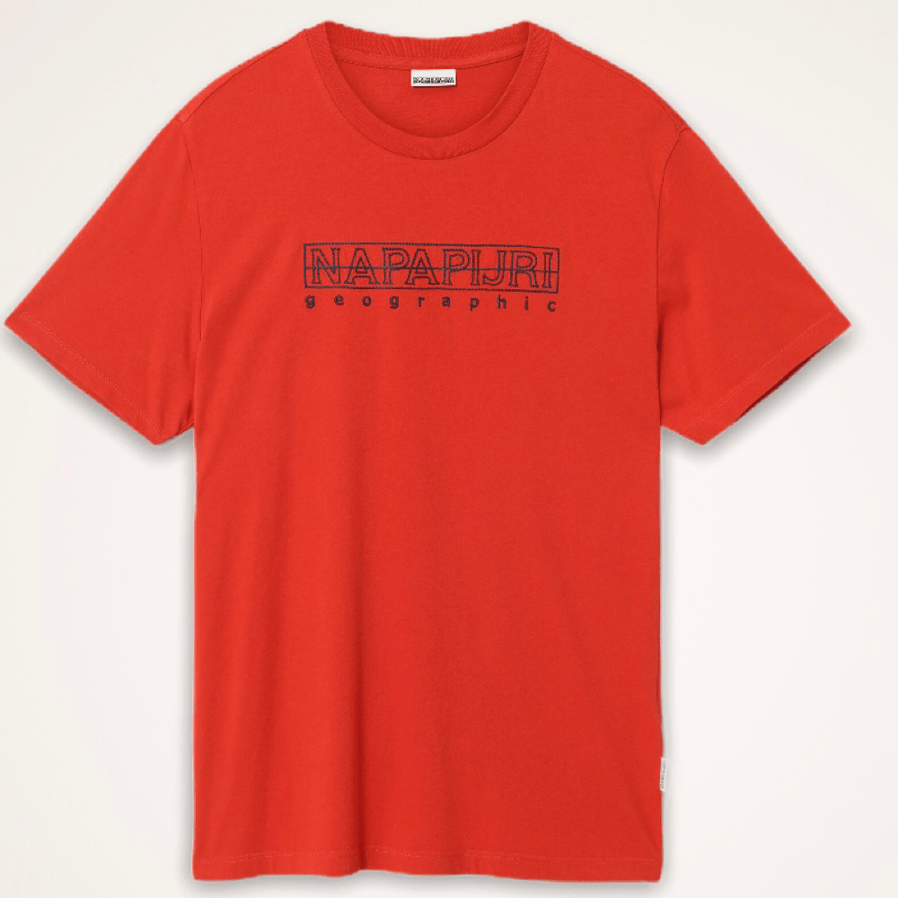 Napapijri Sebel SS T-shirt - Orange Clay