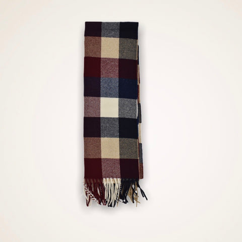 Gant Multi Check Wool Scarf - Checkered