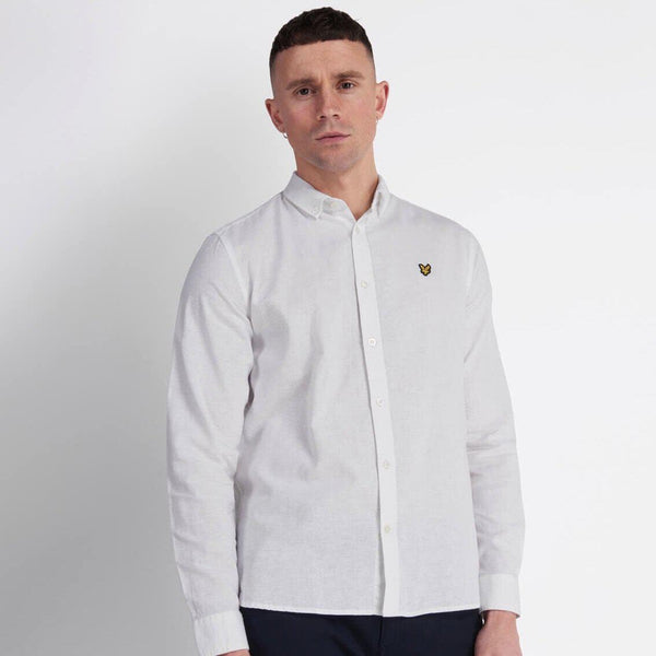 Lyle and Scott Cotton Linen Shirt - White