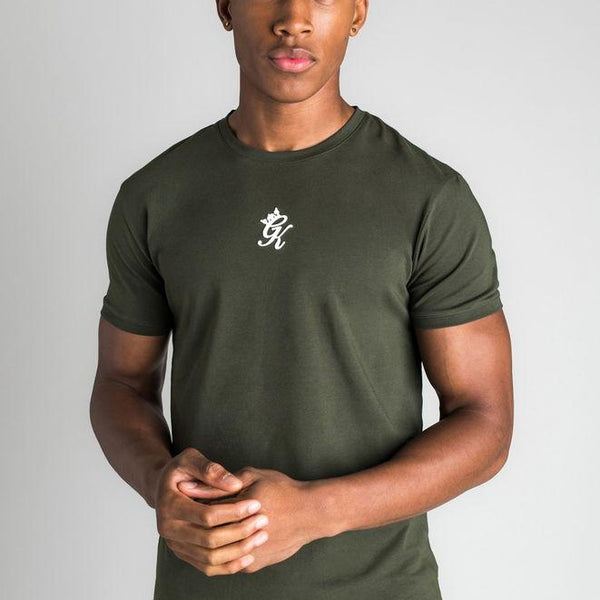 Gym King Fitted Origin T-shirt - Forest