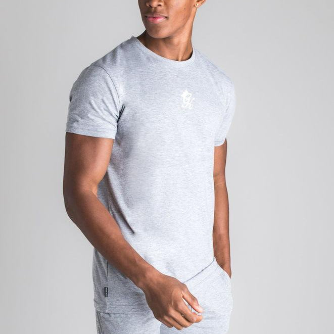 Gym King Origin Fitted T-shirt - Grey Marl