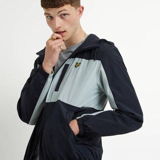 Lyle and Scott Lightweight Hooded Jacket - Navy