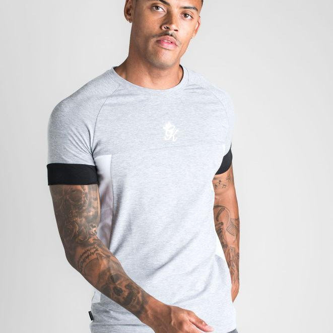 Gym King Seinfeld T-shirt - Grey Marl/White