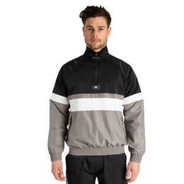 JK Attire 1/4 Zip Shell Pullover - Steel Grey/Black