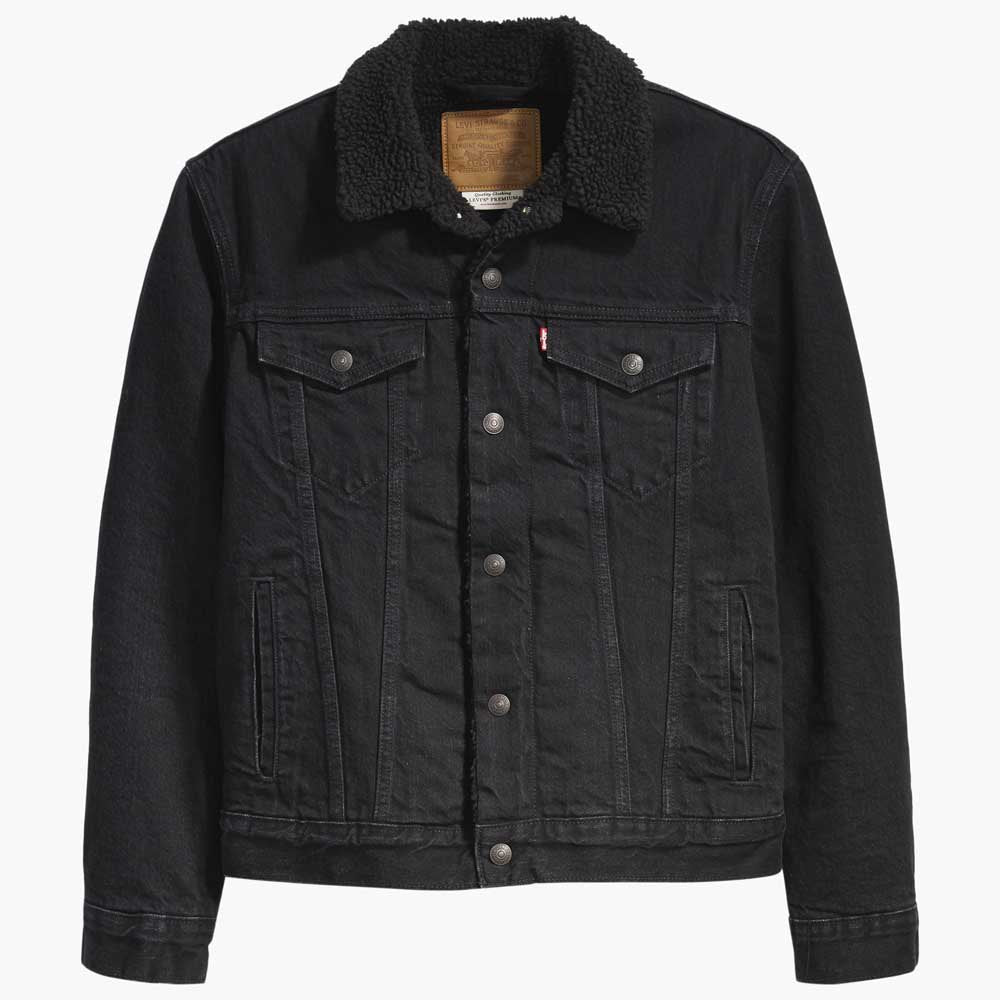 Levis Sherpa Denim Jacket - Black