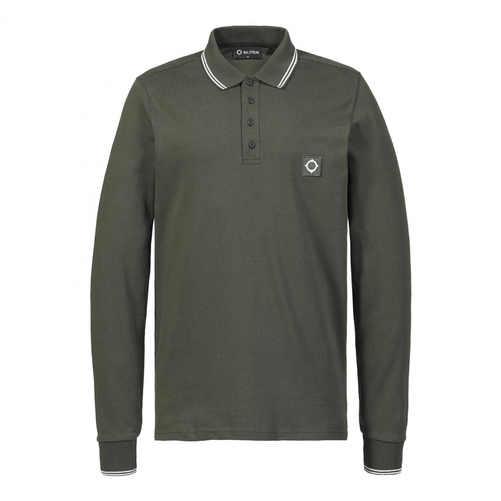 Ma.Strum LS Jersey Polo - Oil Slick