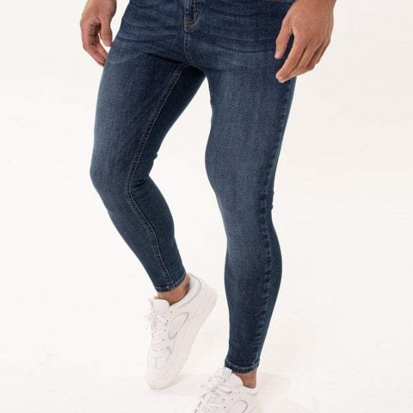 Nimes Super Skinny Spray On Jeans Non Ripped – Midnight Blue