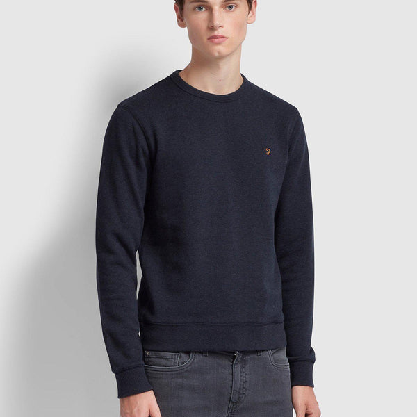 Farah Cotton Crewneck Sweatshirt - True Navy