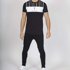 Rose London Stripe T-shirt - Black