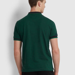 Farah Basel Slim Fit Tipped polo Shirt - Grass Green