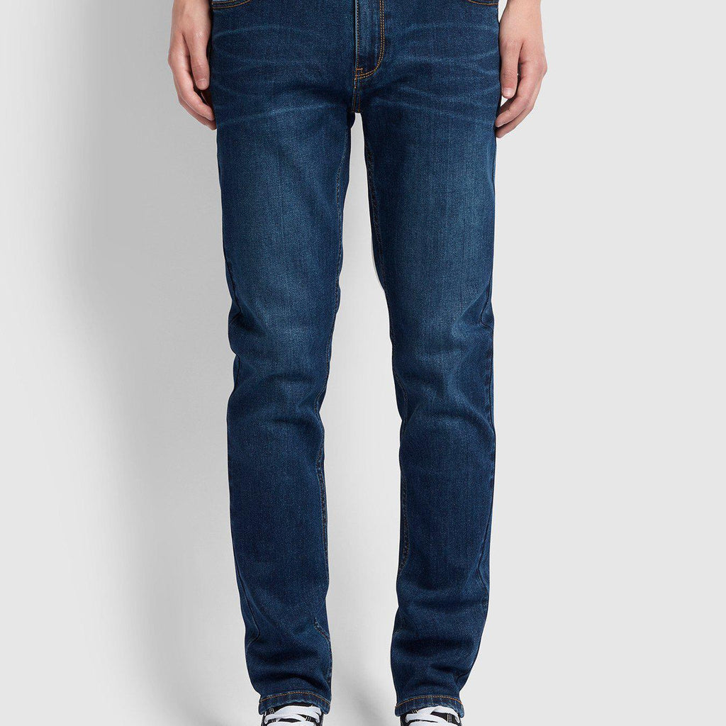 Farah Drake Slim Fit Stretch Jeans - Mid Denim