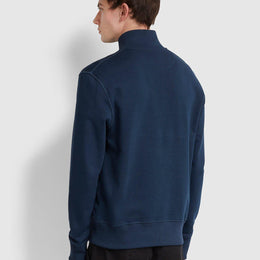 Farah Segundo Cotton Striped Funnel Neck Sweatshirt - Yale