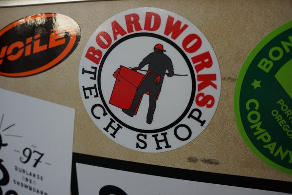 BTS (Board Works Tech Shop) Shop Sticker - 4""