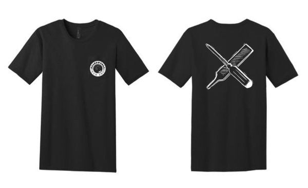 BTS (Board Works Tech Shop) Wheel Logo Pocket Tee