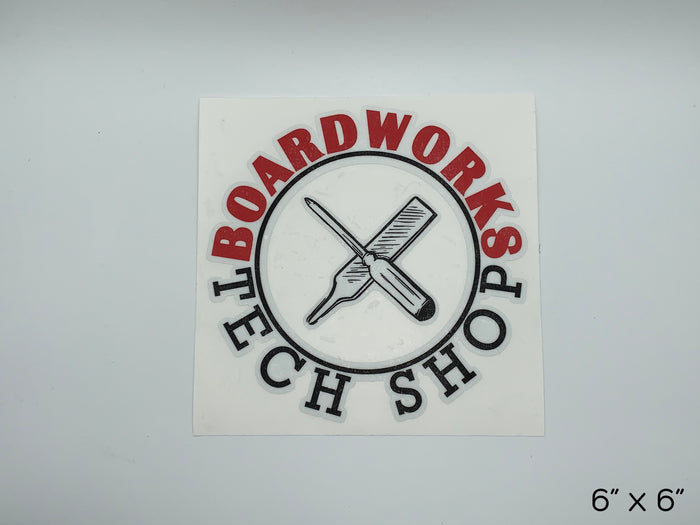BTS DieCut Crossed Tools Shop Sticker - 6""