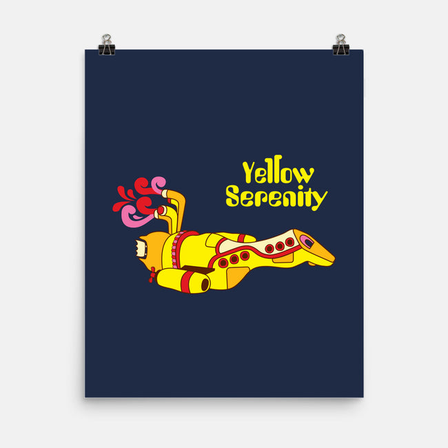 Yellow Serenity-none matte poster-KentZonestar