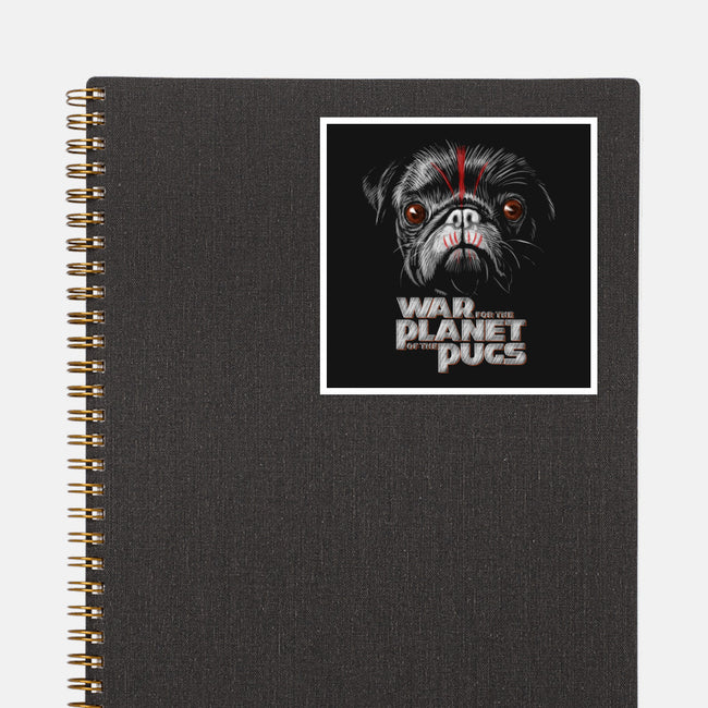War for the Planet of the Pugs-none glossy sticker-bleee