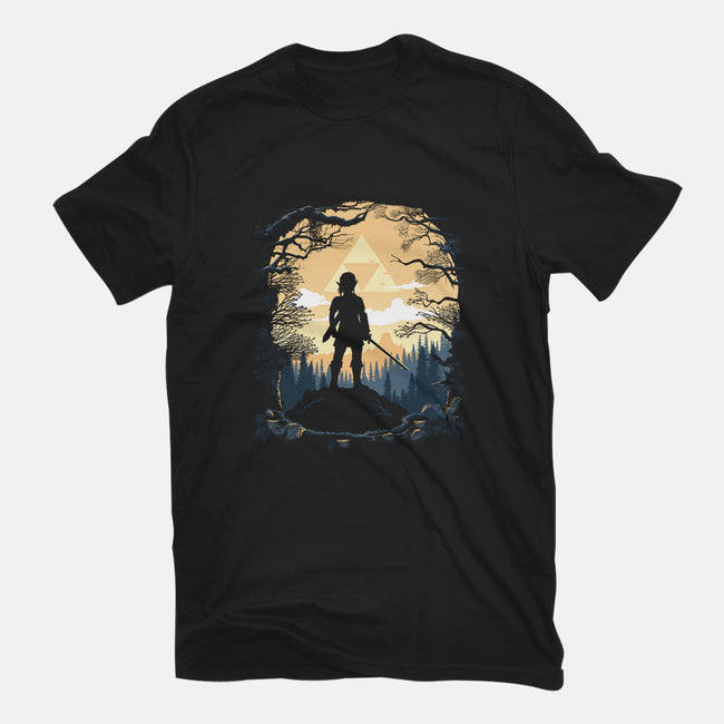 Warrior in the Forest-mens heavyweight tee-albertocubatas