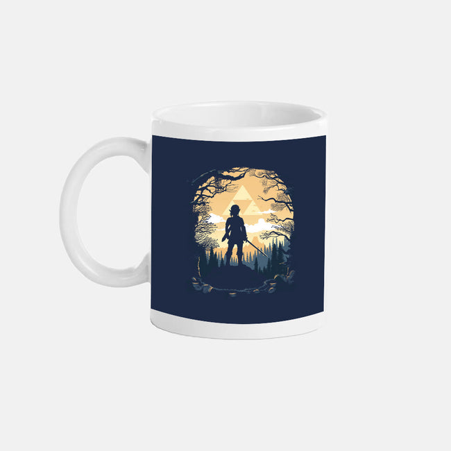 Warrior in the Forest-none glossy mug-albertocubatas