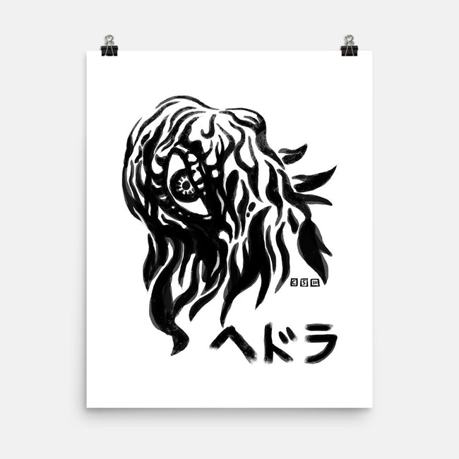Waterbrushed Pollution Monster-none matte poster-cs3ink