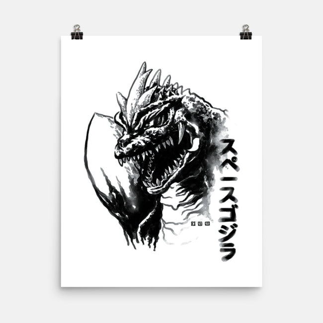Waterbrushed Space Monster-none matte poster-cs3ink
