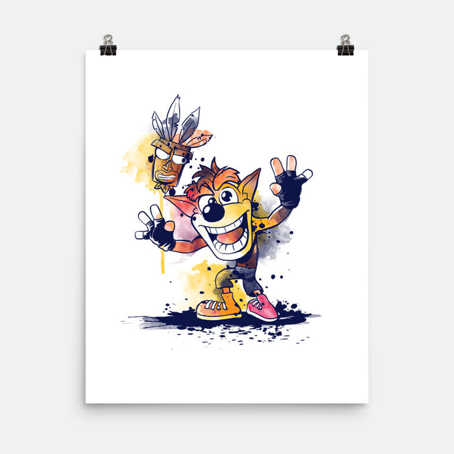 Watercolor Bandicoot-none matte poster-NemiMakeit