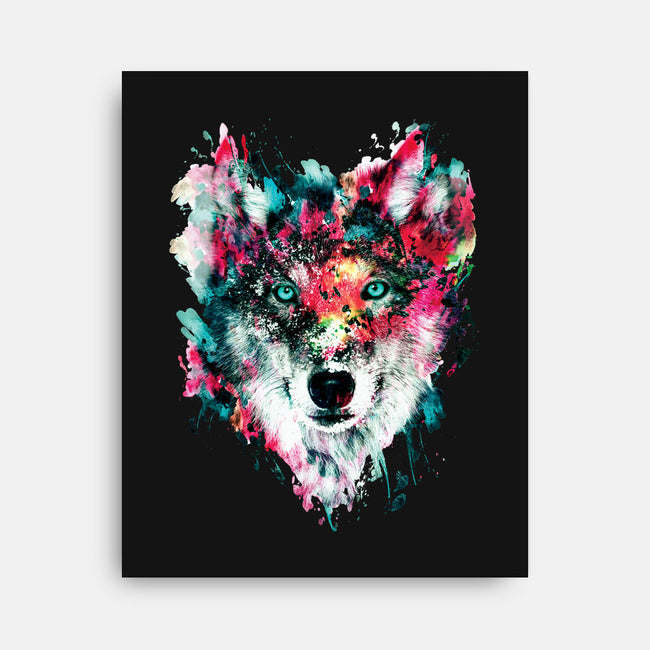 Watercolor Wolf-none stretched canvas-RizaPeker