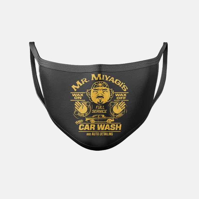 Wax On Wax Off Car Wash-unisex basic face mask-DeepFriedArt