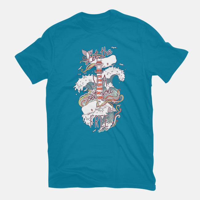 Whales And Waves-mens heavyweight tee-freeminds