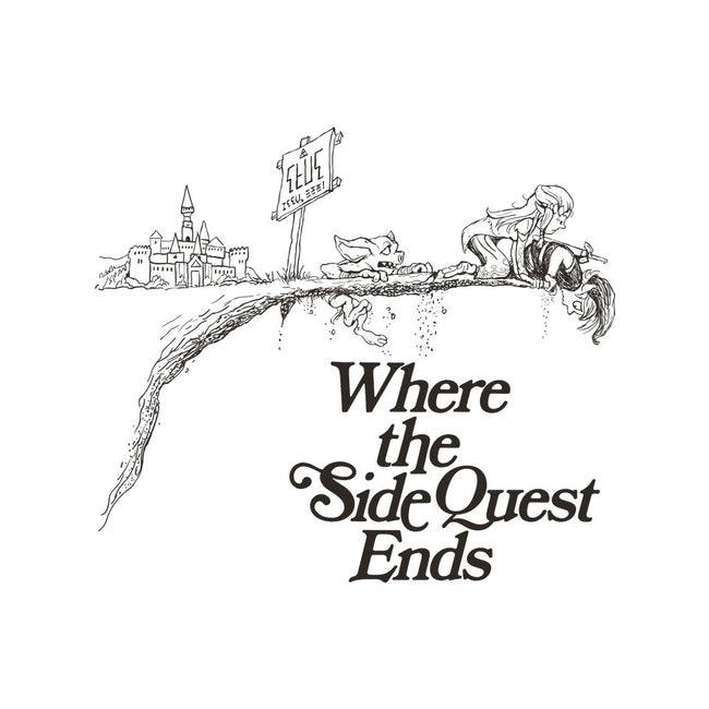 Where The Side Quest Ends-none glossy sticker-DJKopet