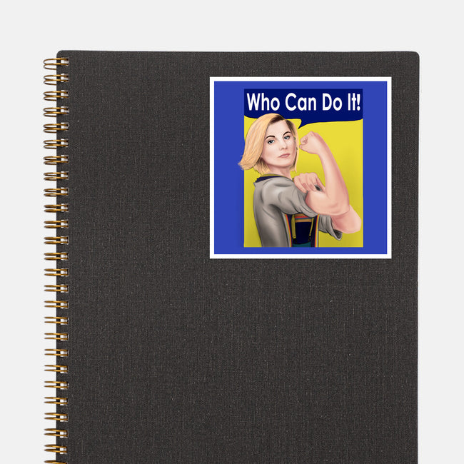 Who Can Do It!-none glossy sticker-MarianoSan
