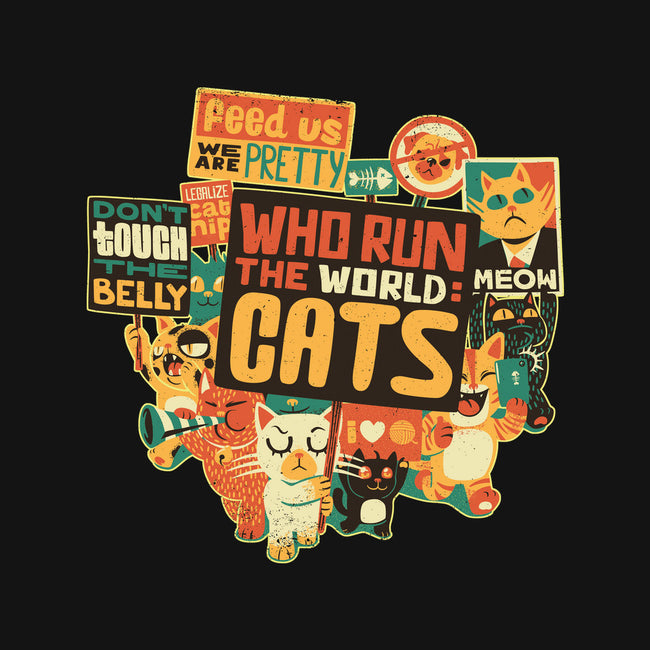 Who Run The World Cats-none stretched canvas-tobefonseca
