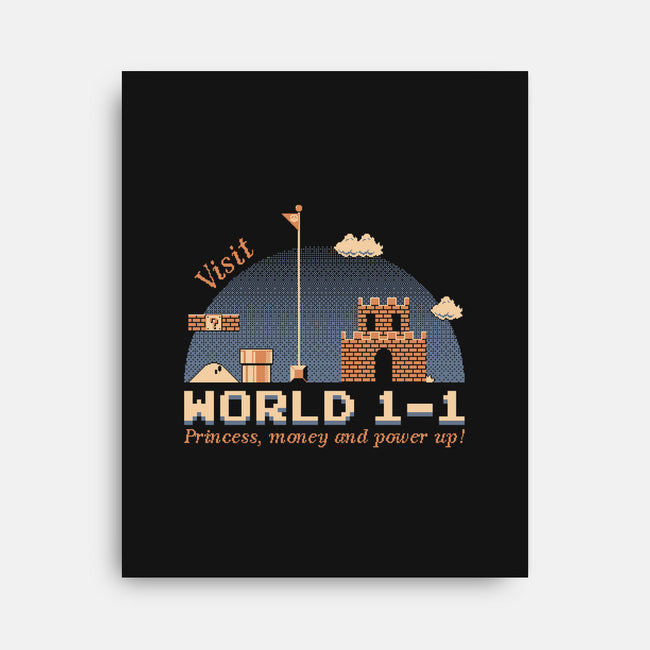 WORLD 1-1-none stretched canvas-mauru