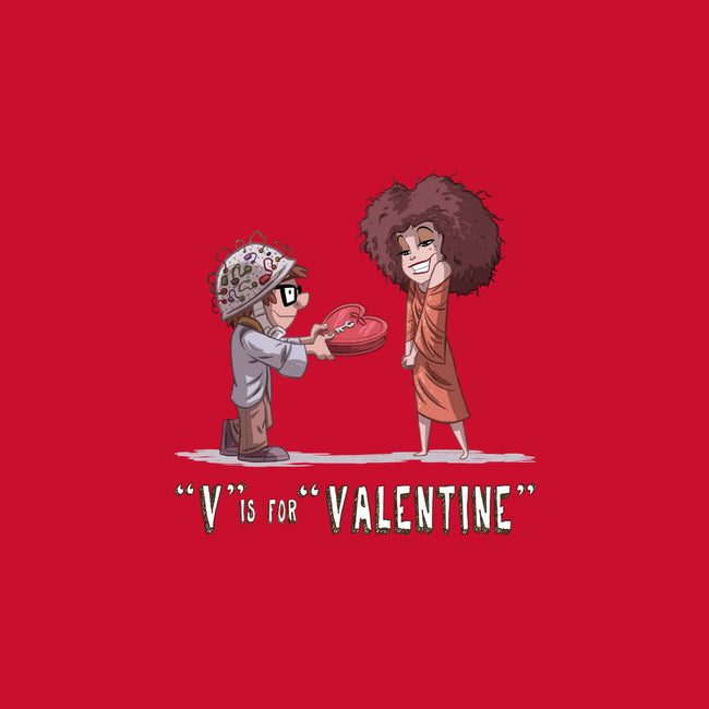 V is for Valentine-none glossy sticker-otisframpton
