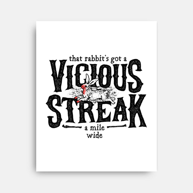 Vicious Streak-none stretched canvas-pufahl