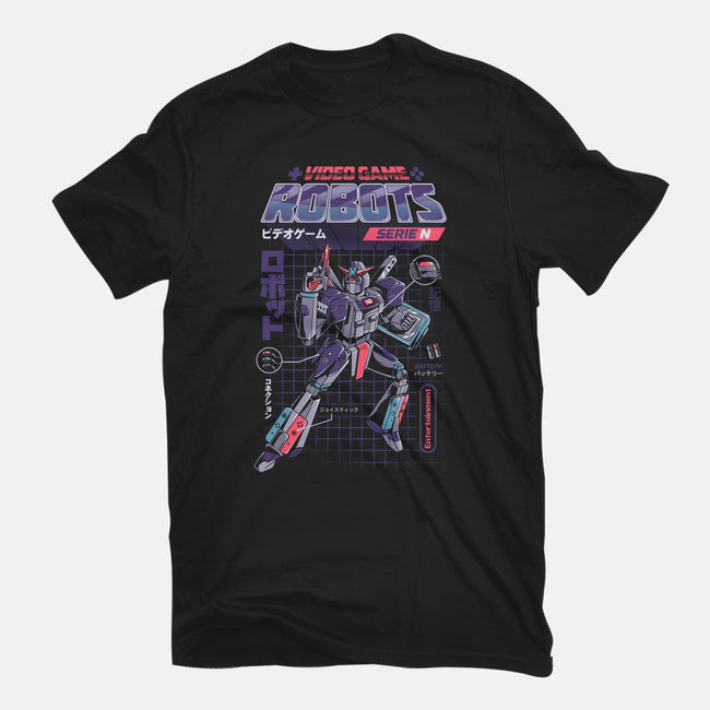 Video Game Robots-Model N-mens heavyweight tee-ilustrata