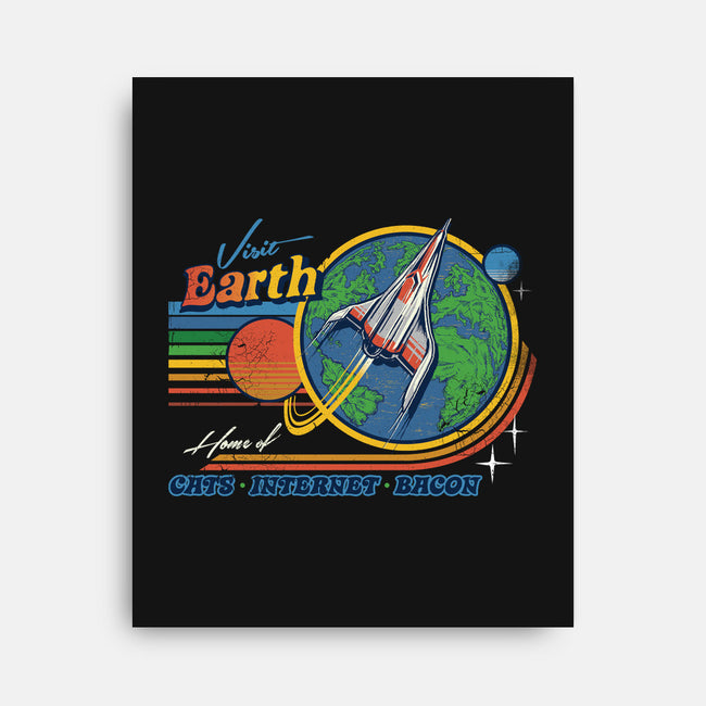 Visit Earth-none stretched canvas-Steven Rhodes