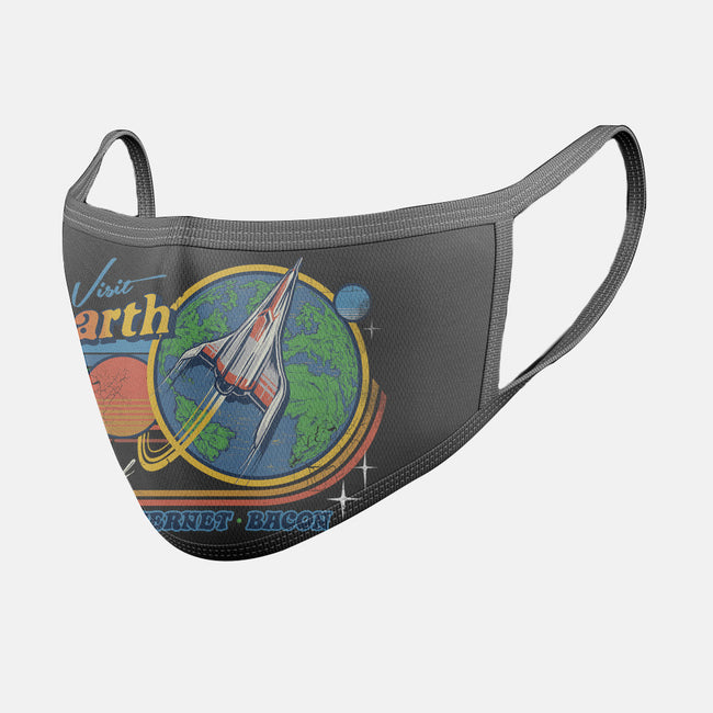 Visit Earth-unisex basic face mask-Steven Rhodes