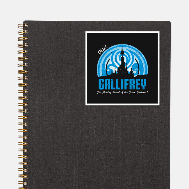 Visit Gallifrey-none glossy sticker-alecxpstees