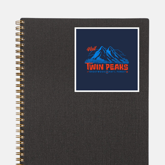 Visit Twin Peaks-none glossy sticker-Gimetzco!