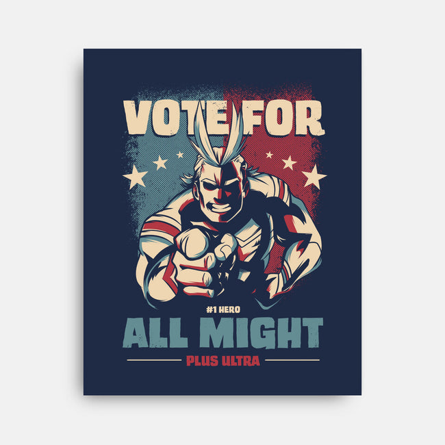 Vote for Plus Ultra!-none stretched canvas-nerduniverse